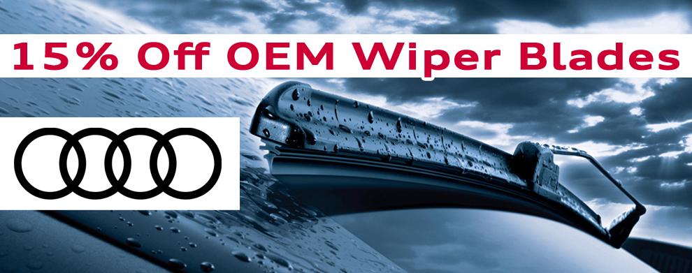 15% off OEM Wiper Blades