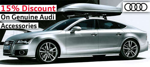 15% off Genuine Audi Accessories