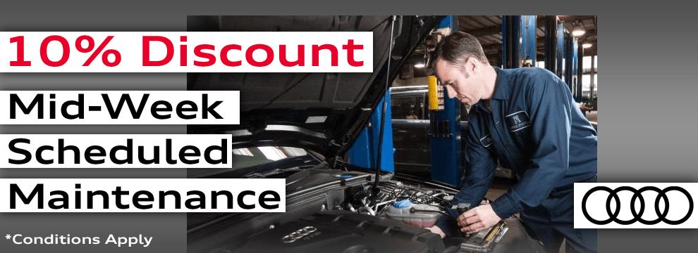 10% off Mid-Week Scheduled Maintenance