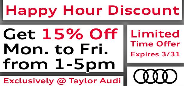 Happy Hour Service Discount