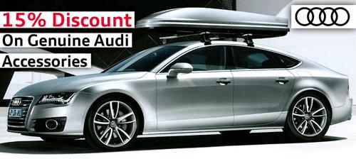 15% off Genuine Audi Accessories