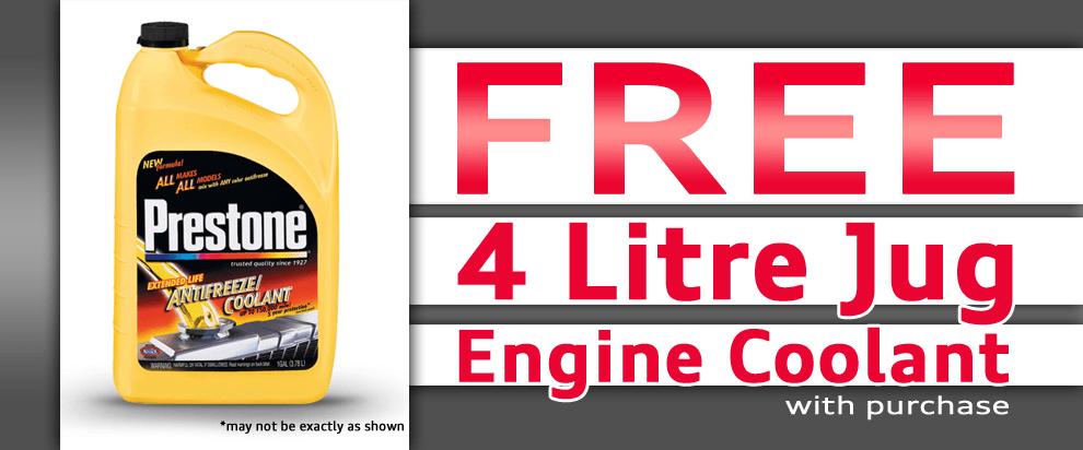 Free Engine Coolant!