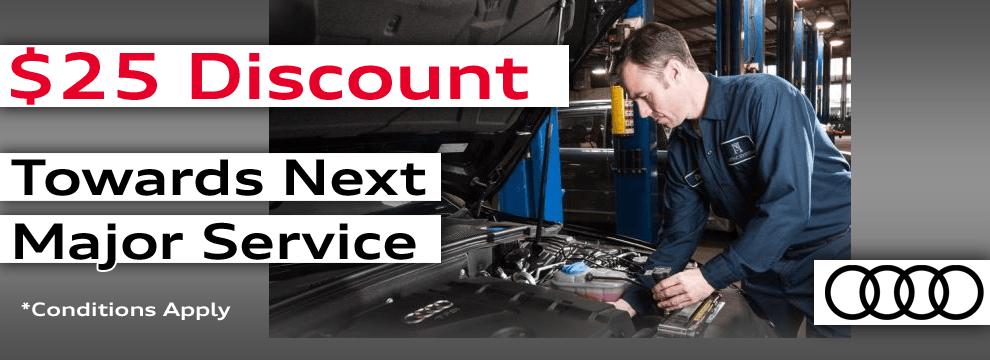 $25 Discount Towards Next Major Service