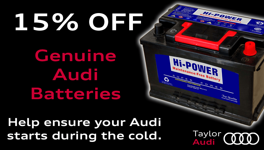 Get 15% off Genuine Audi Batteries