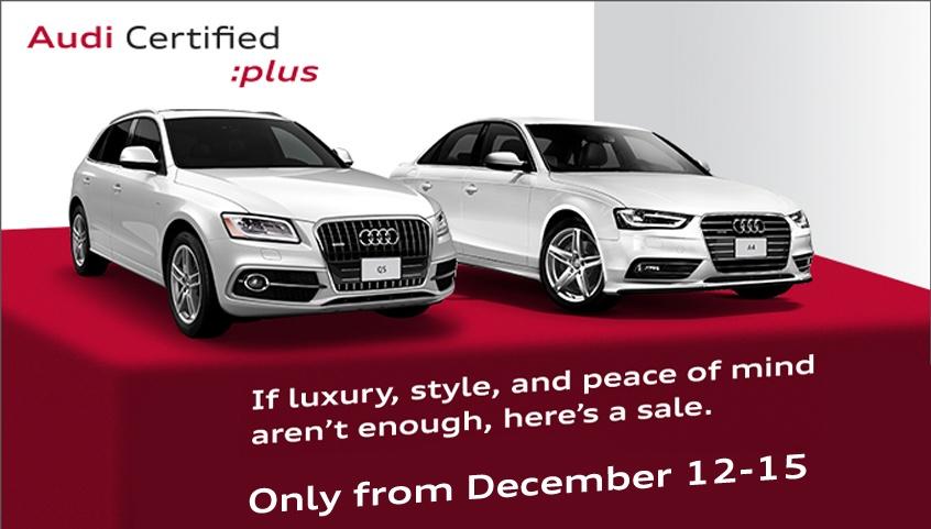 Audi Certified Plus Sale