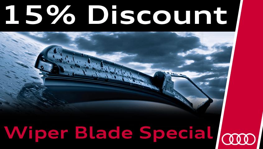 15% off Audi OEM Wiper Blades