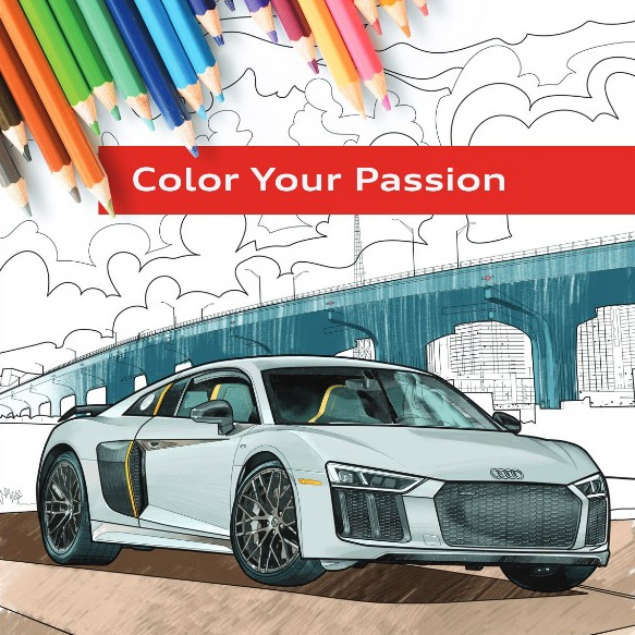 Audi coloring bookIG