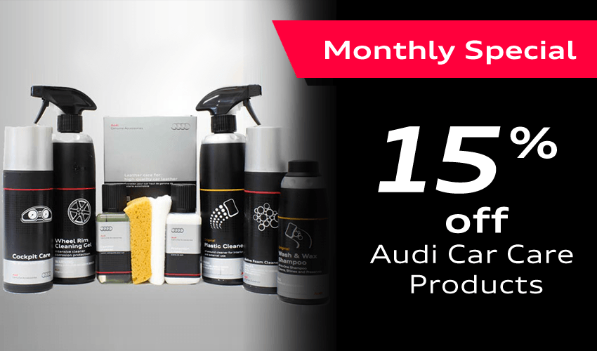 15% off Audi Car Care products