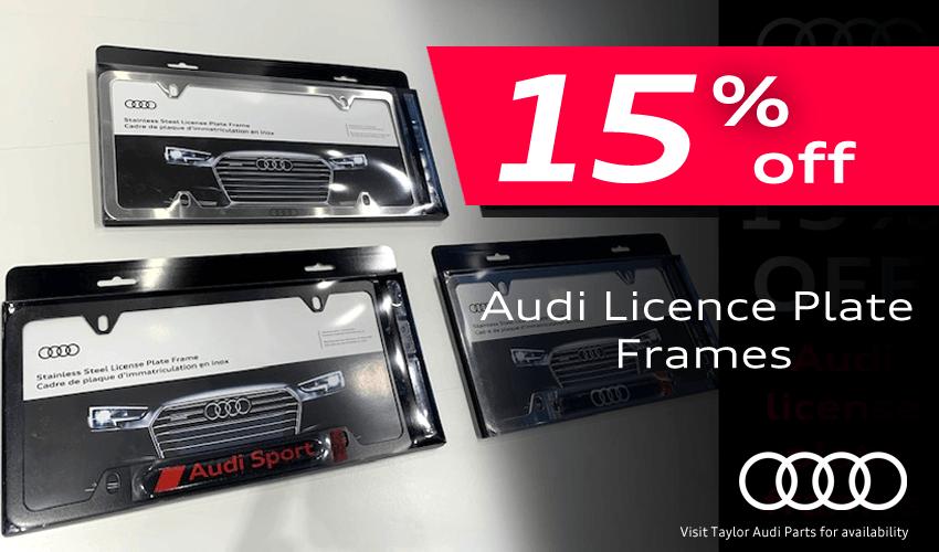 15% off Assorted License Plate Frames