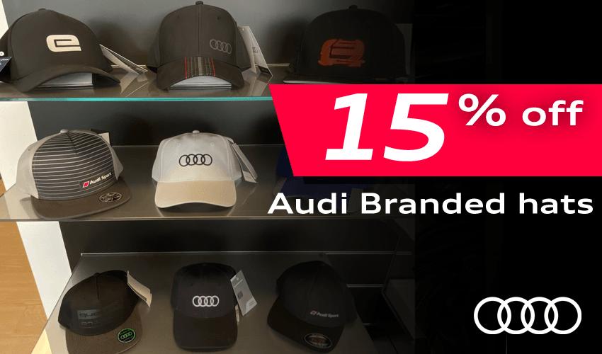 15% off Audi Hats