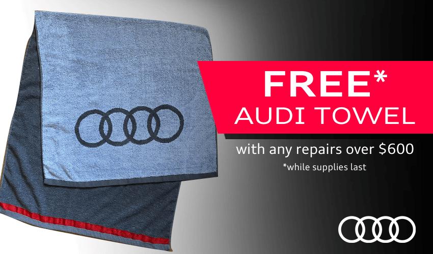 FREE Audi Towel